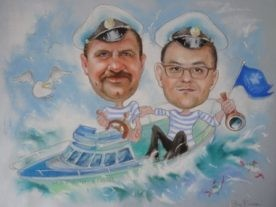 Шарж по фото во Владивостоке